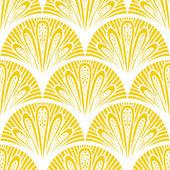 Art deco vector geometric pattern in bright yellow — Stock Vector