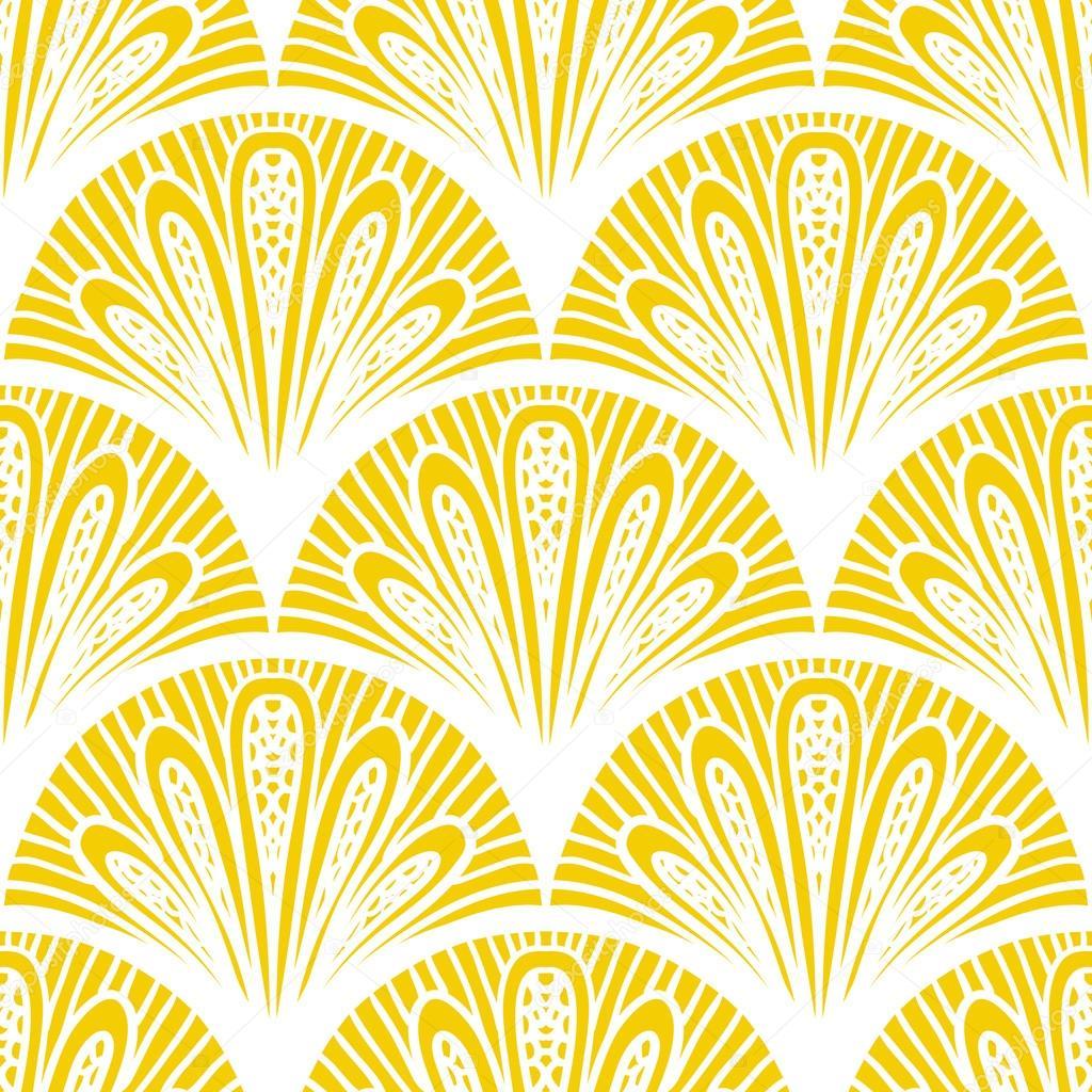 art deco motif g om trique de vecteur en jaune vif image vectorielle tukkki 38438087. Black Bedroom Furniture Sets. Home Design Ideas