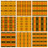 Set of nine tribal patterns — Stock Vector
