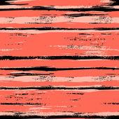 Fırçalanmış hatları ile çok renkli çizgili desen — Stok Vektör