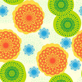 Seamless floral pattern in bright colors — Stock Vector