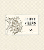 Vector vintage card with sunflower on soft beige — Stock Vector