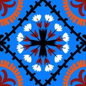 Suzani pattern with Uzbek and Kazakh motifs — Stock Vector