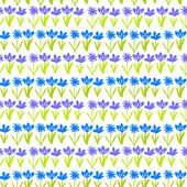 Grunge pattern with small hand drawn flowers. — Stock Vector