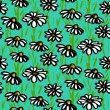 Vector pattern with hand drawn daisy flowers — Stock Vector #41514605