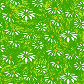 Vector pattern with hand drawn daisy flowers — Vector de stock