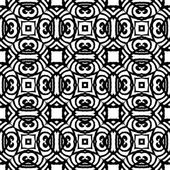 Vintage vector art deco pattern in black and white — Stock Vector