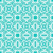 Vintage vector art deco pattern in aqua blue — Stock Vector