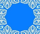 Estructura geométrica art decó vector con encaje blanco — Vector de stock