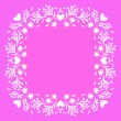 Floral frame with small flowers and hearts — Stock Vector #42884139