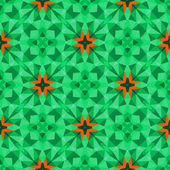 Multicolor geometric pattern in bright green. — Stockvektor