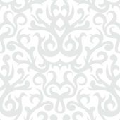 Damask pattern in white and silver — Stock Vector