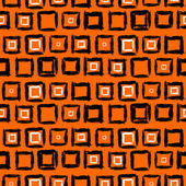Geometric pattern with small hand painted squares — Stock Vector