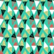 Grunge hand painted pattern with triangles — Stock Vector