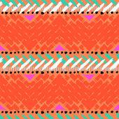 Grunge mano pintada vector de patrones sin fisuras — Vector de stock