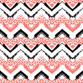 Chevron hand painted vector seamless pattern — Vector de stock