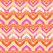 Chevron hand painted vector seamless pattern — Stock Vector