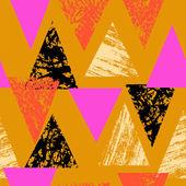 Handgeschilderde vet patroon met driehoeken — Stockvector
