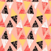 Grunge hand painted pattern with triangles — Vector de stock