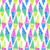 Grunge el desen üçgen ile boyalı — Stok Vektör
