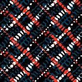 Vector seamless grunge plaid pattern — Stock Vector