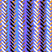 Chevron hand painted vector seamless pattern — ストックベクタ