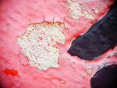Old paint and wall, cracked wall color red — Stock Photo
