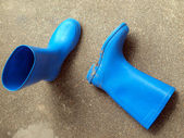 Use of rubber boots — Stock Photo