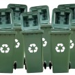 Recycle Bins Isolated - Stok fotoraf