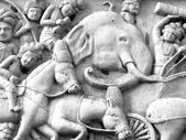 Elephant Carving and sculpture in thailand — Stock fotografie