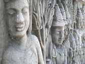 High relief sculpture — Stock Photo