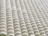 Edifício de apartamento multi gigante. plano de fundo ou textura — Foto Stock
