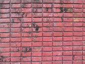 Старый красный кирпич стены Текстура — Стоковое фото