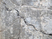 Cracked concrete texture closeup background — Stock Photo
