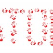 Stock Photo: Abstract Stop hand prints background