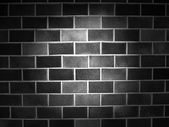 Fundo de parede blocos preto — Fotografia Stock