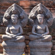 Stock Photo: Ancient buddhist khmer art in thailand