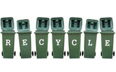 Recycle Bins Isolated — Stock Photo