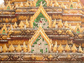 Beautiful gable of the famous temple — Stock Photo