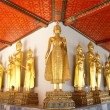 Buddha statues in the Wat Pho temple ,Thailand — Stock Photo