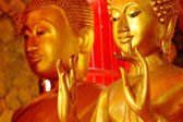 Buddha statues , Face of gold buddha, Thailand ,Asia — Stock Photo
