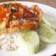Tasty Omelet and rice,Thai menu  — Foto de Stock