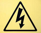 Sign of danger high voltage symbol — Stock Photo
