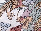 Forma di drago sul muro — Foto de Stock