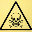 Danger sign with skull symbol — Stock Photo #37534275