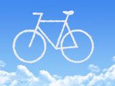 Cloud shaped as Bike ,dream concept — Stock Photo