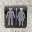 Toilet plate sign on wall — Stock Photo #40915053