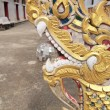 Statue of nagas in front of buddhism temple Thailand — Stock Photo