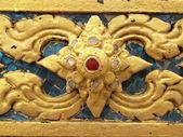タイの仏教寺院の壁にパターン — ストック写真