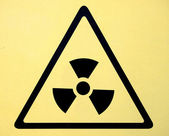 Radiation hazard symbol sign of radhaz threat alert icon — Stock Photo